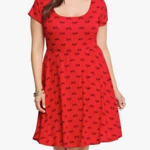 Torrid Red Bike Dress size 3
